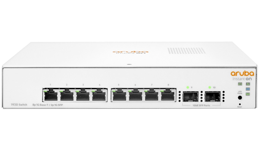 Switch HP Aruba Instant On 8x1GbE 2xSFP JL680A