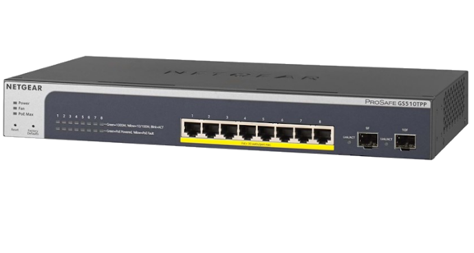 Switch Netgear GS510TPP Smart 8xGEth L2 8xPoE (190W)