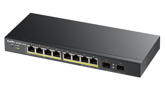 Switch Zyxel GS1900-10HP 8xGEth PoE 2xSFP