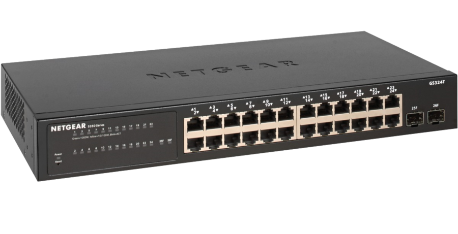 Switch Netgear S350 24P GE Smart 24x1GBE 2xSFP/1G GS324T