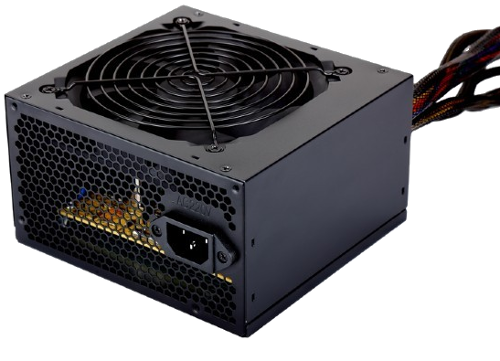 Zasilacz 500W Gembird BLACK POWER 12cm FAN 80 PLUS Bronze (CCC-PSU80P-BBP-500)